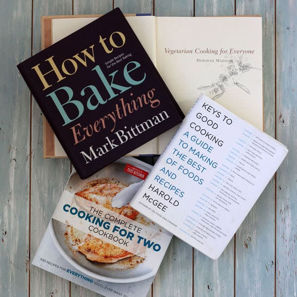 Cookbooks that teach basic cooking skills for everyone: America's Test Kitchen Complete Cooking For Two Cookbook, Vegetarian Cooking For Everyone, How To Bake Everything, Keys To Good Cooking - A Guide To Making The Best of Foods And Recipes