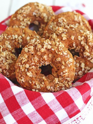 Wholesome Baked Cinnamon Apple Donuts