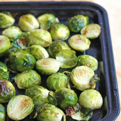 Unbelievably Easy Toaster Oven Roasted Brussels Sprouts