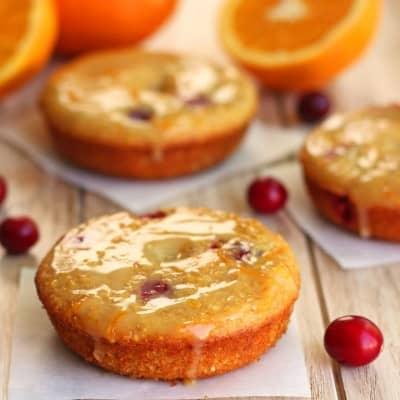 Cranberry Orange Cornbread Donuts