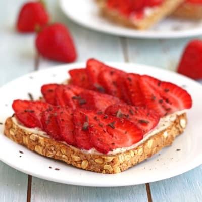 Strawberry Tiramisu Toast