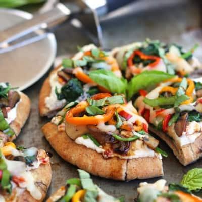 Veggie Pita Pizza Bites