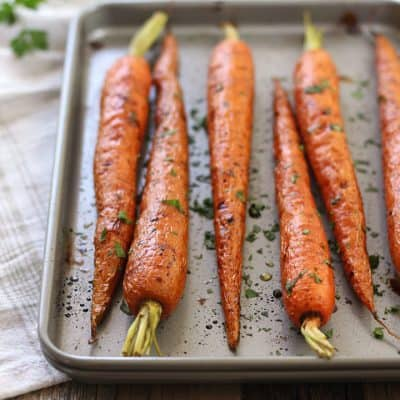 Sweet & Tangy Balsamic Roasted Carrots