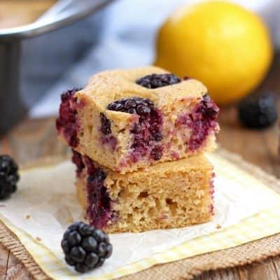 Light and Fluffy Lemon Blackberry Baked Pancake
