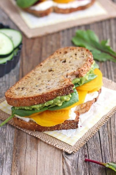 Golden Beet and Avocado Sandwich