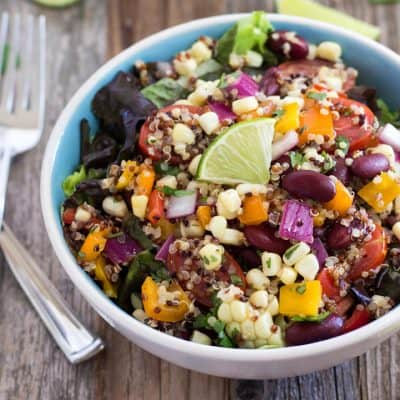 Summer Corn and Quinoa Veggie Salad