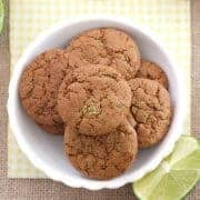 Lemon Lime Coconut Sugar Cookies made with coconut palm sugar. They're light, crispy, chewy, full of flavor and smell fantastic. A small batch recipe perfect for making in your toaster oven.