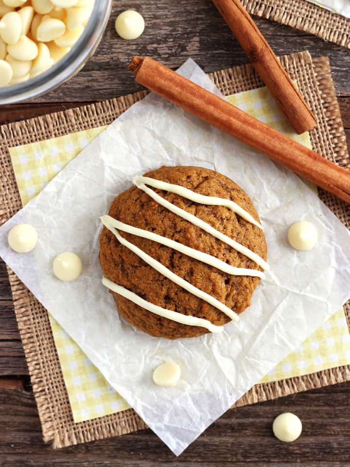 Small Batch Pumpkin Spice Cookies are a tasty fall treat you can bake in your toaster oven. Perfect for using up a tiny bit of leftover canned pumpkin!
