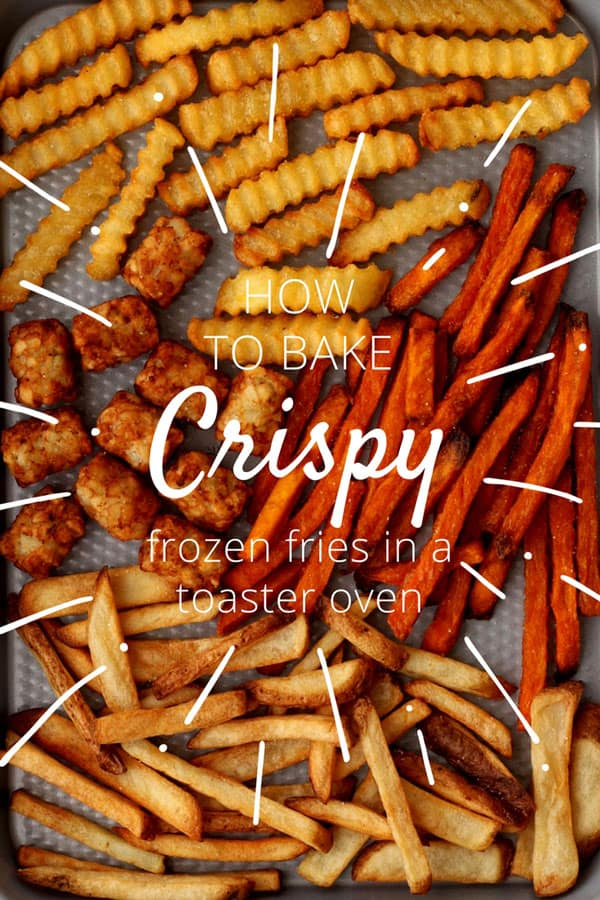 Learn the secret to baking crispy toaster oven frozen fries. Includes tips, examples, topping ideas and a mouthwatering recipe for toaster oven Greek fries.