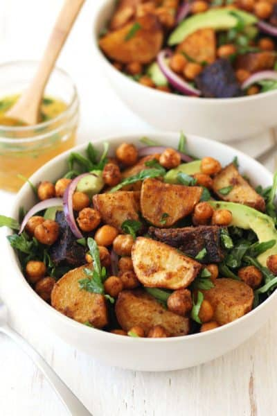 Roasted Baby Potatoes and Chickpea Salad