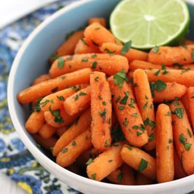 Roasted Carrots with Lime, Garlic and Ginger (20 Minutes!)