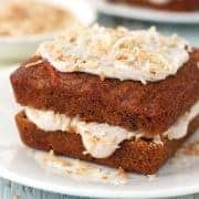 A toaster oven carrot cake recipe that's the perfect excuse to bake a 6-inch cake, mini bundts, a loaf or double layer frosted mini cakes in your toaster oven.