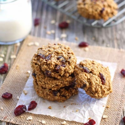 Cranberry Orange Toaster Oven Oatmeal Cookies