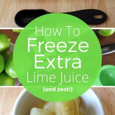 Don't let your citrus go to waste! Learn how to freeze extra lime juice (and zest) so you'll always have some on hand to use in any recipe.