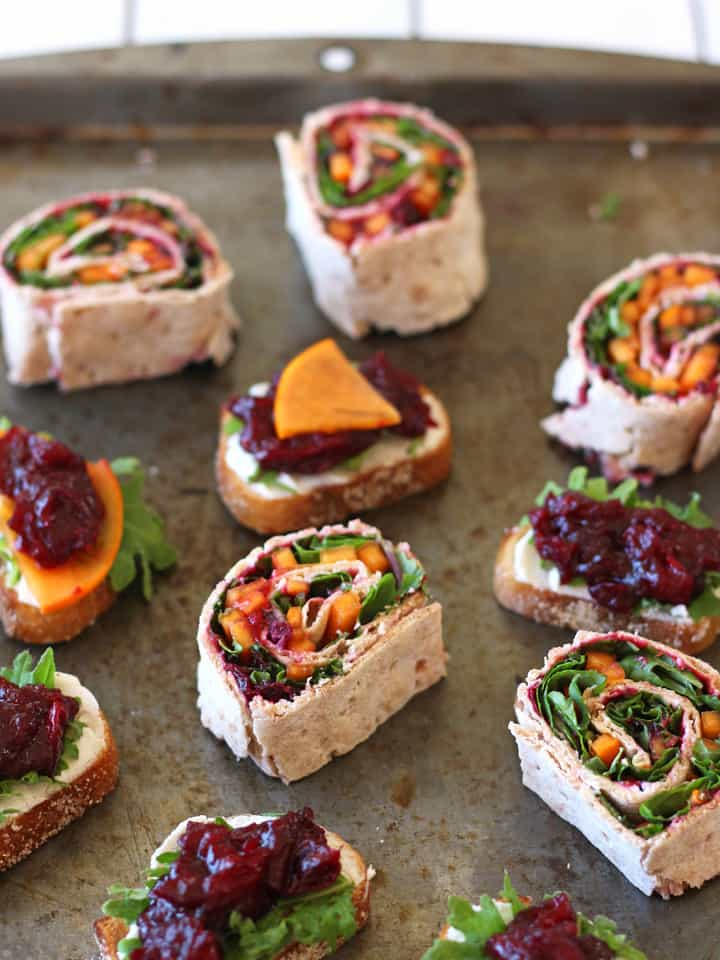 Wrap up your favorite winter produce or holiday leftovers with a generous helping of Balsamic Roasted Cranberries for a tasty pinwheel appetizer or filling lunch.
