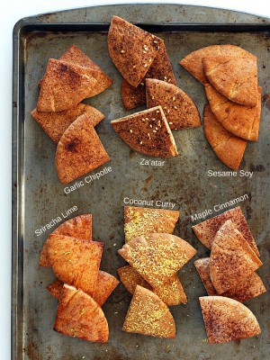 Healthy Toaster Oven Appetizers: Baked Pita Chips