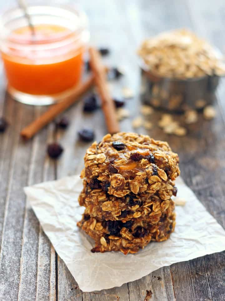 Persimmon Banana Breakfast Cookies. Sweet Hachiya persimmon pulp, mashed banana and hearty rolled oats in tasty seasonal fruit cookie you can feel good about eating for breakfast. Skip the raisins for a lower-sugar option.