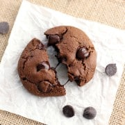 Toaster Oven Double Chocolate Cookies. Brownie-like cookies that are crispy on the outside and chewy on the inside with rich dark chocolate chips. Bake a fresh batch in your toaster oven today!