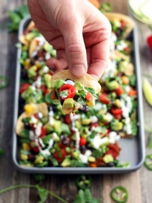 Healthy Toaster Oven Appetizers: Veggie Nachos