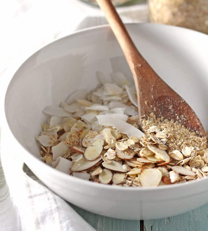 Small Batch Almond Granola. Customize this simple recipe with your favorite nuts, seeds and dried fruit. It's the prefect size for making in your toaster oven!