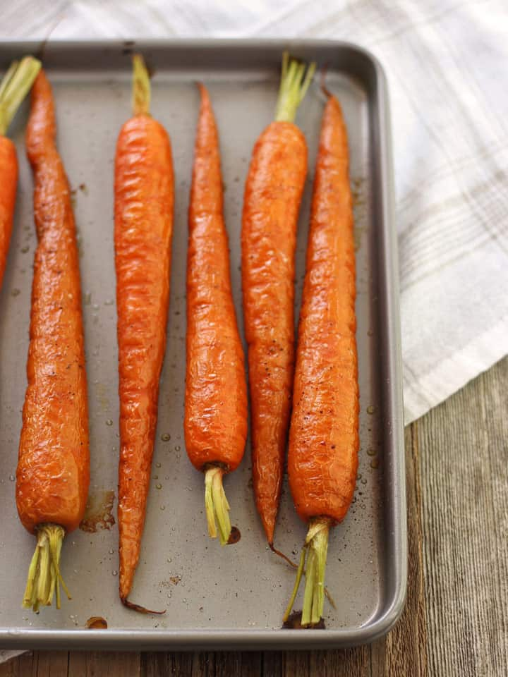 sweet  u0026 tangy balsamic toaster oven roasted carrots