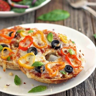 Toaster Oven Pizza Bagels