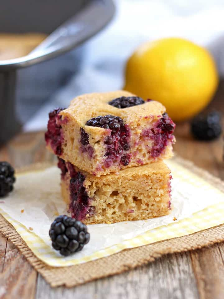 Lemon Blackberry Baked Pancake. Skip the stovetop and make a toaster oven baked pancake instead. Just mix the batter, top with fruit, bake and enjoy!