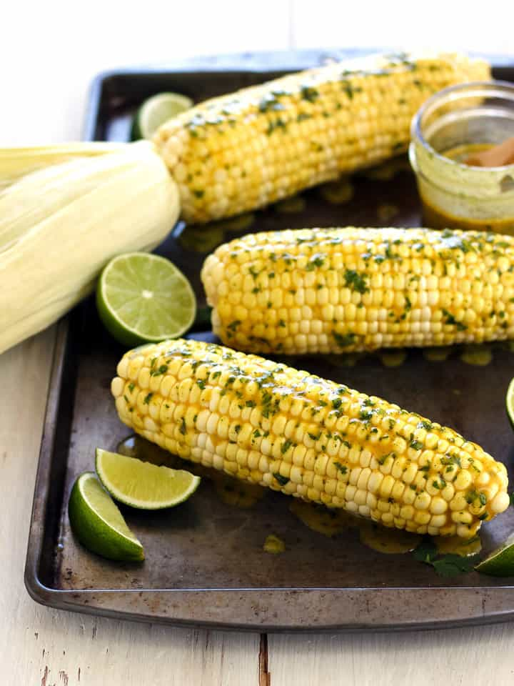 Cooking corn on the cob in your toaster oven takes only 5 minutes of prep and 30 minutes of baking. It couldn't be easier and tastes delicious.