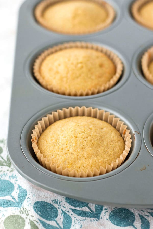Lemon olive oil cupcakes are light, tender and perfectly sized for your toaster oven. If 6 cupcakes are too much for your small household, no worries the leftovers freeze great.