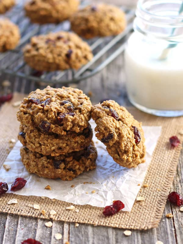 10 Cookie Recipes For Your Toaster Oven including Cranberry Orange Toaster Oven Oatmeal Cookies. A simple whole grain recipe for toaster oven oatmeal cookies that's lighter on sugar but full of cranberry orange flavor!