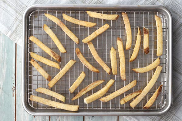Learn how to use your toaster oven's convection function to bake frozen fries. They'll cook faster and be amazingly crispy.