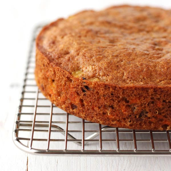 Toaster Oven Carrot Cake is perfectly sized for baking in a 6-inch round cake pan. Bake this special treat for two today!