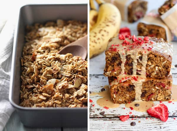Small Batch Granola and Strawberry Chocolate Chip Banana Bread Bars