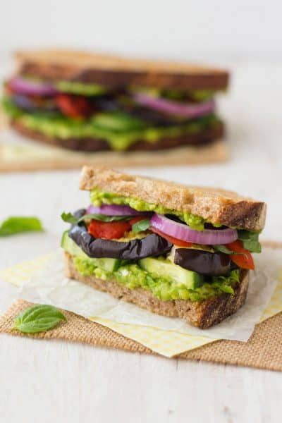 Toaster Oven Broiled Eggplant Sandwich