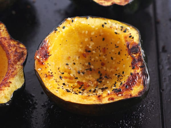 toaster oven roasted acorn squash bowls