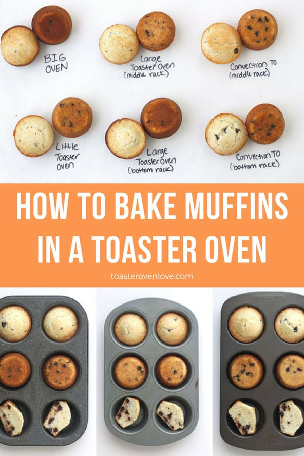 Muffins baked 11 different ways in a toaster oven.