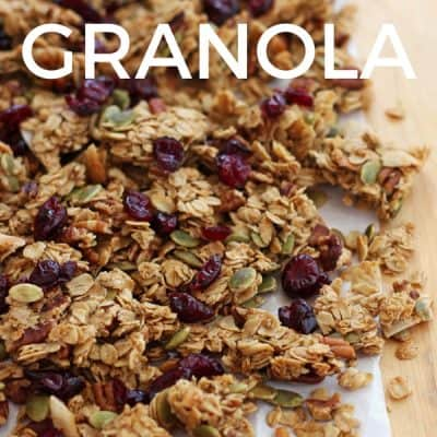 Maple Pecan Toaster Oven Granola (Super Clumpy and No Stirring)