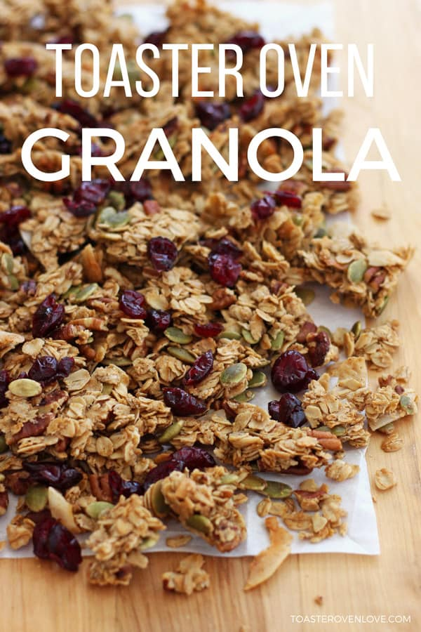 Toaster Oven Granola is so simple to make. With this small batch recipe there's no stirring and it's easy to customize.