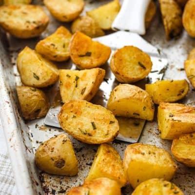 Toaster Oven Rosemary Potatoes