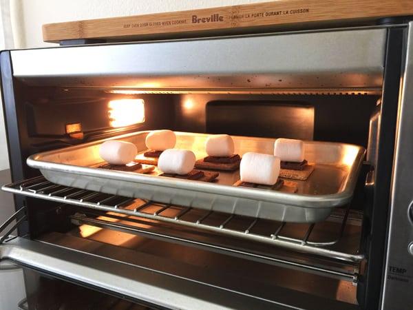 S'mores baking a Breville Smart Oven Pro.